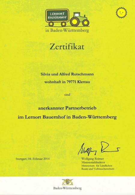 Urkunde Lernort Bauernhof_klein